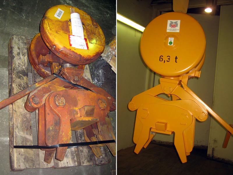 Reparatur einer Trägerzange für Unterflaschen