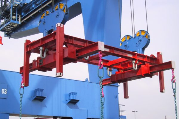 Special Container Lifting Beam with adjustable Spreaders