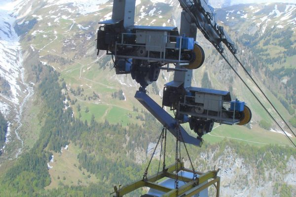 Container-Spreader for Cable Cars Operations