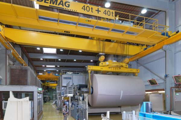 Rotating Lifting Beam with double Hook Suspension