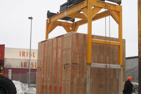 Fixer Überhöhungsrahmen Container manuell