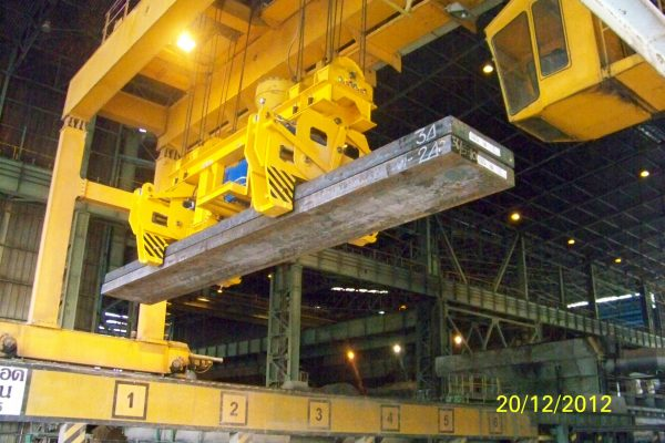 Hydraulic Double Slab Tongs with quadruple reeving